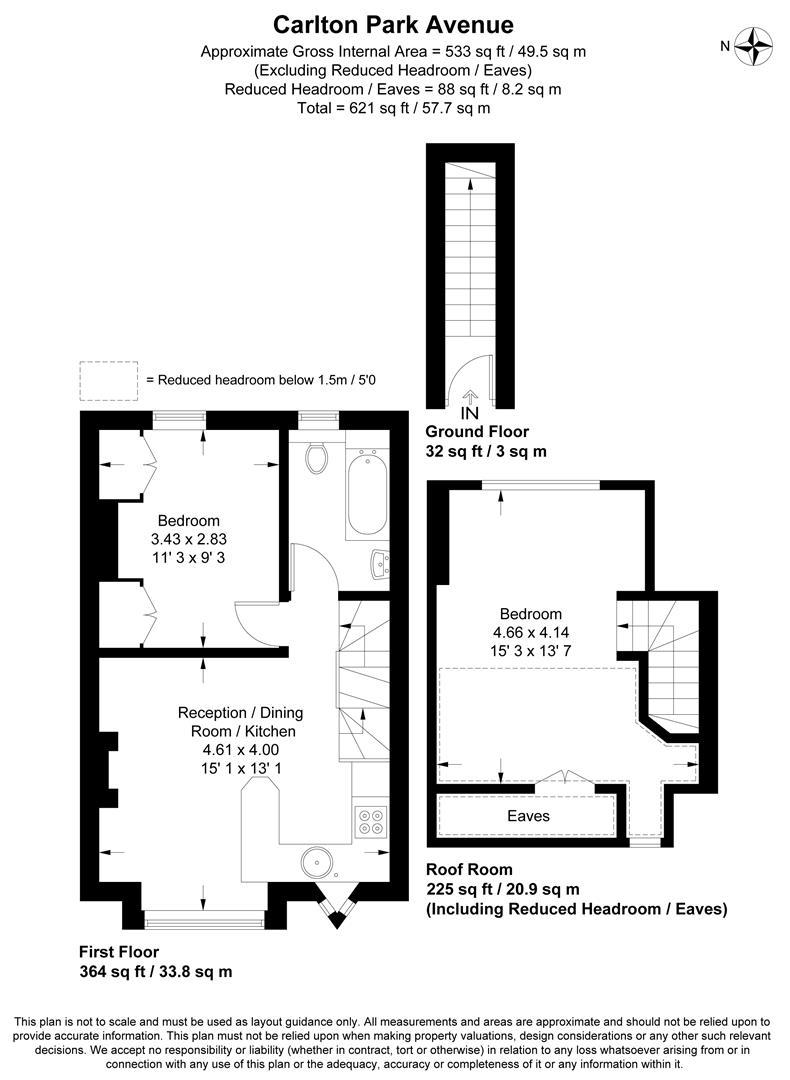 Floorplan for Carlton Park Avenue, West Wimbledon